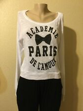 ACADÉMIE DE L'AMOUR PARIS By MODERN LUX Sweater White Color JUNIOR Size M