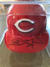 DEVIN MESORACO Cincinnati Reds Signed Riddell Mini Baseball Helmet
