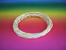 1 m MUNDORF Silbergold Draht silvergold wire sgw215wh/ye 2x1,5mm PTFE weiss/gelb