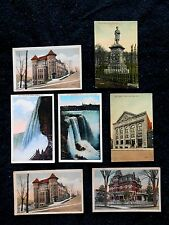 7 Vintage Postcards - Little Falls, Horseshoe Falls, Niagara Falls New York