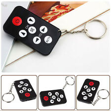 Universal Infrared IR Mini TV Set Remote Control Keychain Key Ring 7 Keys Black