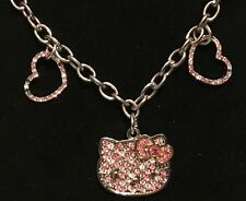NEW Sanrio Hello Kitty Jewelry Bracelet Diecut Face Hearts with Rhinestones Case