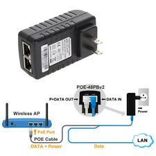 24V 1A POE Injector Power Over Ethernet Adapter for Gateway IP Camera Wlan Hot
