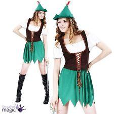 Ladies Womens Book Robin Hood Sherwood Medieval Fancy Dress Outfit Costume Hat