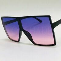 BETTY Flat Top Huge Big Oversized Laure XXL SHIELD Square Men Women Sunglasses