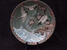 LARGE BEAUTIFUL DISH HOKUSAI JAPANESE PORCELAIN ENAMELS HAND PAINTING 19TH C