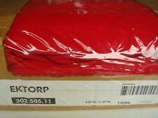 NUOVO Originale Copertura Per IKEA EKTORP 2 posti Divano Letto Idemo Rosso 100% COTONE