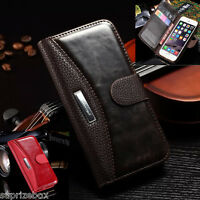 Samsung Galaxy CASE - Leather Magnetic SHOCKPROOF Slim Wallet PURSE Phone Cover