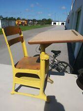Vintage Childs / Student Metal Elementary School Desk Chair Mid Century