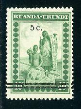 Ruanda-Urundi Scott #56 MNH SCHG 5c on 40c Family $$