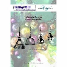 Indigoblu A6 Rubber Stamp - Industrial Lamps by Limor Webber