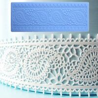 Vintage Lace Cake Decoration Border Mat Silicone Fondant Icing Sugarcraft Mould