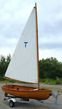 Vintage 1986 Wood Boat,Herreshoff Repro Sailboat& Rowing Dinghy, Lake Sail MAINE