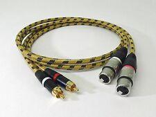 2x1,50 Meter XLR-Cinch-Kabel für Studer A727 A730 D730 C221 SC-CLASSIQUE Neutrik