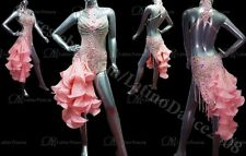 LATIN SALSA COMPETITION DRESS WITH HIGH QUALITY RHINESTONES M255