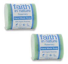 Faith in Nature Romarin fait à la main savon 2 x 100g - VÉGÉTALIEN -