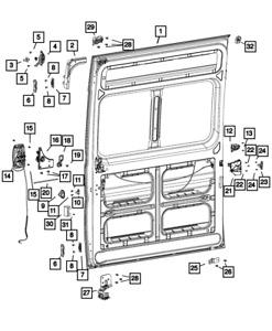 Genuine MOPAR Sliding Door Roller Right 68226144AA