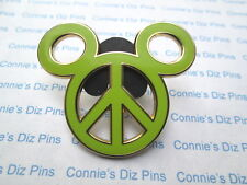 PEACE SYMBOL -  MICKEY EARS HEAD LOGO SIGN Pin Disney Pins - Very COOL