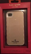 Kate Spade Gold Harrison Stripes Hybrid Hardshell iPhone 4/4s Cover Case (New)