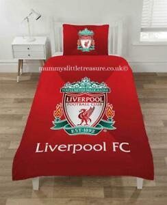 OFFICIAL LIVERPOOL FOOTBALL CLUB REVERSIBLE SINGLE DUVET COVER BEDDING SET