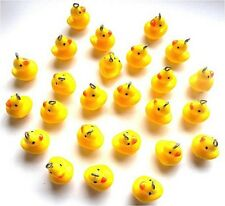 WHOLESALE - 25 GORGEOUS RUBBER DUCK CHARMS RESIN WITH HOOKS FOR JEWELLERY CRAFT
