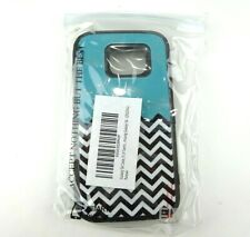 ELV Galaxy s6 Case ZigZag Blue Green Smartphone Bumper Case Cute Protection