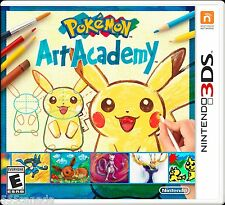 Pokemon Art Academy (Nintendo 3DS, 2014) BRAND NEW SEALED