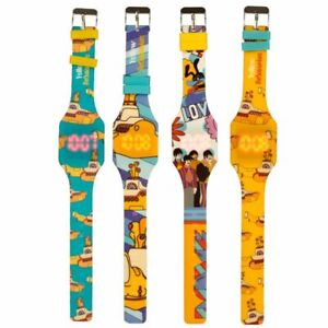 OFFICIAL THE BEATLES YELLOW SUBMARINE SILICONE DIGITAL WRIST WATCH BNWT *