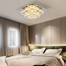 Crystal Ceiling Light Mini Led Chandelier Lighting Fixtures Square Ceiling Lamps