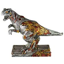 """Steampunk T-Rex Dinosaur Figurine 9.75"""" Long Highly Detailed Resin New In Box"""