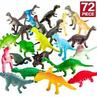 Realistic Dinosaur Toys Assorted Lot Pack of 72 Jurassic Park Figures Plastic