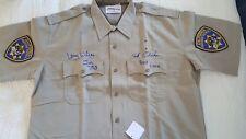 ERIK ESTRADA and LARRY WILCOX signed autograph CHiPs PONCH & JON uniform shirt