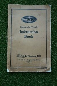 RARE FORDSON 2-TON  TRUCK 1935 OWNERS INSTRUCTION BOOK