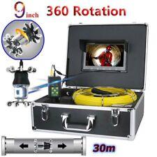 """30M FOGNATURE Pipeline scarico sistema di video ispezione 9""""LCD fotocamera 360 gradi"""