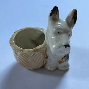 Small Vintage Occupied Japan Scotty Dog Planter, Very Nice!