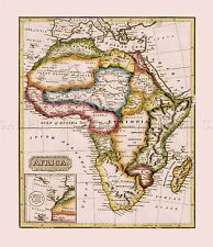 MAP ANTIQUE LUCAS 1814 GENERAL ATLAS AFRICA LARGE REPLICA POSTER PRINT PAM0991