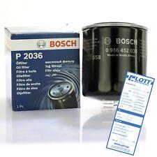 Bosch filtro aceite filtro Filtro oil 0 986 452 036