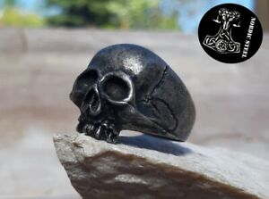 Ring Schädel Skull Totenkopf Edelstahl Rocker Biker Gothic versch. Größen NEU