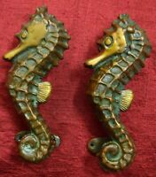 Nautical Theme Decorative Door Handle Pair Sea Horse Gate Furnish Handmade VR458
