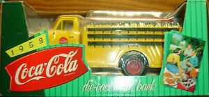 ERTL 1953 FORD Coca Cola Bottle Delivery Truck - Die Cast Collectable Bank NEW!