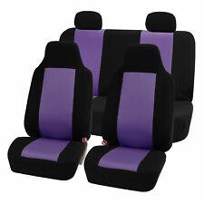 Highback Seat Covers Seat For Car SUV Auto Van Full Set Purple Black