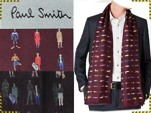 PAUL SMITH Scarf Double Side For Man Made In Italy UNTIL - 80 % PS28 TOD1