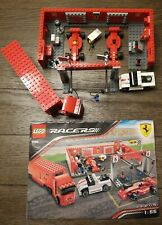 LEGO Racers:  Ferrari F1 Pit Set 8155 Complete with Instruction Manual