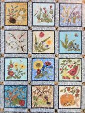 FOUR SEASONS BLOCK OF THE MONTH QUILT PATTERN Set MARINDA STEWART Flowers NEW