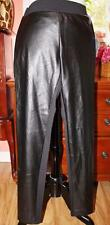 New $44 BeBop Juniors Skinny Leggings Elastic Pants PU Leather Front Black S