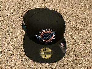 Miami Dolphins New Era Black 2020 NFL Draft 59fifty Hat Men's Size: 7 3/4