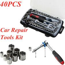 1Set 40PCS Car Repair Tool Set Hand Repair Wrench Socket Tool Removal Tool Kit