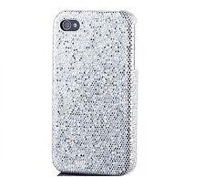 scintillant étui portable Strass poche de protection pour iPhone 4 Argent