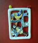 Vintage Iparmuveszeti Vallalat Ceramic Wall Plaq Tile BIRDS design Hand painted