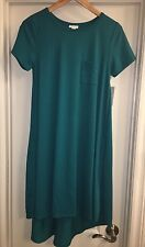 NWT LuLaRoe Carly Dress Size XS Extra Small Gorgeous Solid Teal HTF Unicorn 🦄